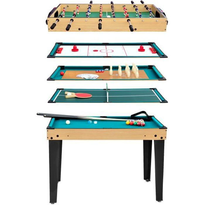 Table multi-jeux 10 en 1