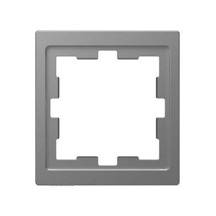 Schneider Electric mtn4010 ? 6536 Cadre de 1 élément de la gamme d-life pour montage vertical et horizontal, aluminium - MTN4010-65