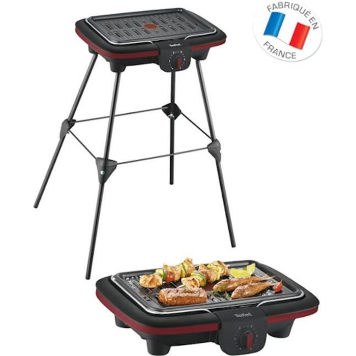 TEFAL CB902O12 Barbecue électrique Easy Grill Contact sur pieds