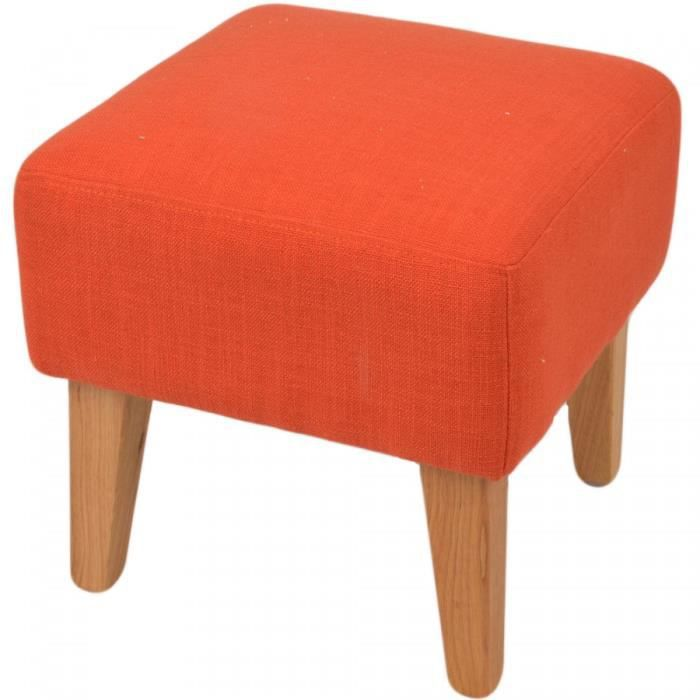 pouf en lin orange style annees 50 bardot achat vente pouf poire cdiscount. Black Bedroom Furniture Sets. Home Design Ideas
