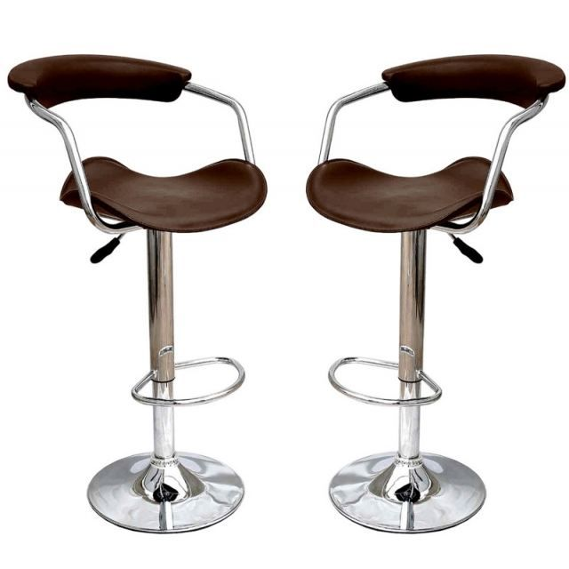 tabouret de bar marron x 2 retro cavalier achat vente tabouret cdiscount. Black Bedroom Furniture Sets. Home Design Ideas