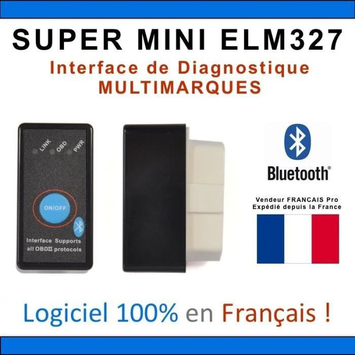 super mini elm327 bluetooth diagnostic multi marques obd vagcom android achat vente. Black Bedroom Furniture Sets. Home Design Ideas