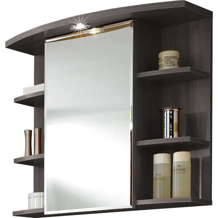 armoire miroir avec lumi re coloris fr ne carbo achat vente armoire de toilette armoire. Black Bedroom Furniture Sets. Home Design Ideas