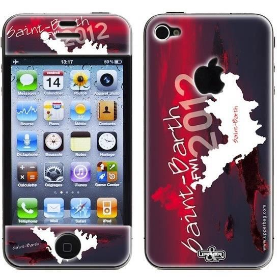 coque 3d iphone 4 4s saint barth red