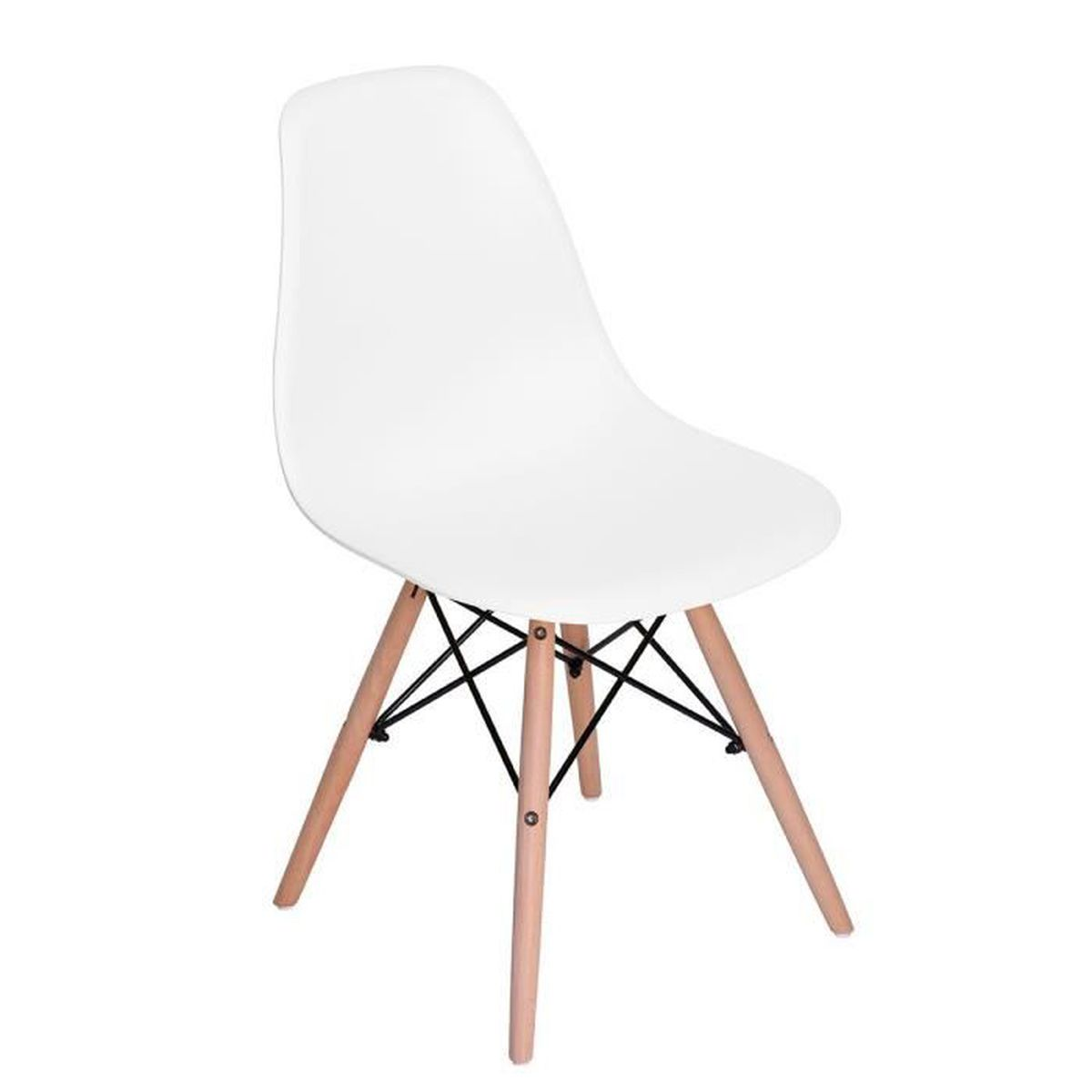 chaises eames blanc achat vente chaises eames blanc pas cher cdiscount. Black Bedroom Furniture Sets. Home Design Ideas