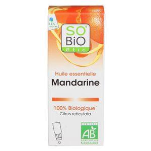 HUILE - LAIT MASSAGE SOBIO Huile essentielle mandarine - Bio - 10 ml -