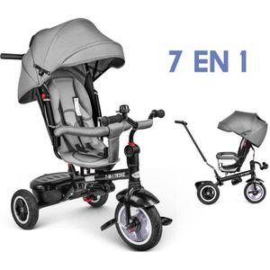TRICYCLE besrey Tricycle Evolutif Bébé 7 en 1 Vélo Enfant G
