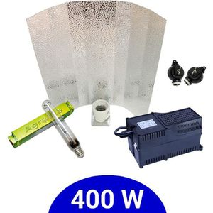 Eclairage horticole Kit lampe 400W HPS Agrolite + Agrolite class 2 + S