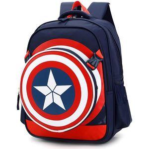 CARTABLE Garçons Captain America Cartable enfants Sac à dos