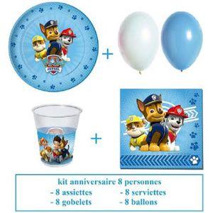 KIT DE DECORATION kit anniversaire reine des neiges pour 8 personnes