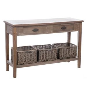 console en bois gris achat vente console en bois gris pas cher cdiscount. Black Bedroom Furniture Sets. Home Design Ideas