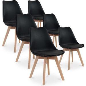 Lot 6 CATHERINA chaises bois Gris Pieds Scandinave de 7vfbYyg6
