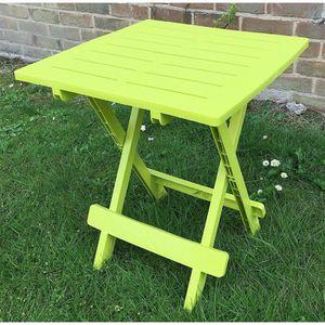 UK-Gardens - Table de jardin en plastique en résine, vert ...