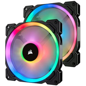 VENTILATION  CORSAIR Lot de 2 ventilateurs LL140 RGB - Dual Lig