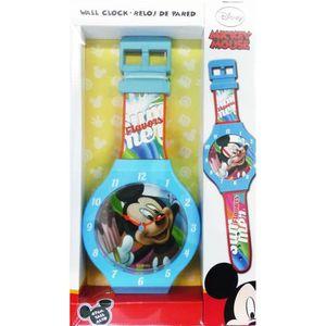 HORLOGE - PENDULE Horloge murale Mickey XL 47 cm montre Disney enfan