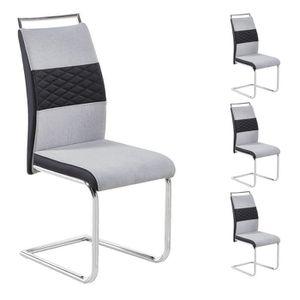 CHAISE Lot de 4 chaises de salle à manger ou cuisine ERZA