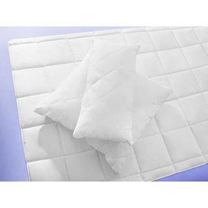 COUETTE Couette 135x200 2 en 1 clipsable blanche anti-acar