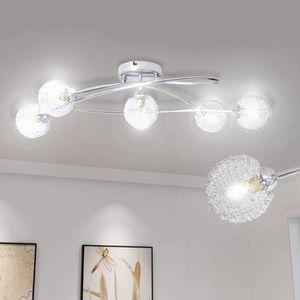 PLAFONNIER Lampe de plafond avec grillage métallique pour 5 a