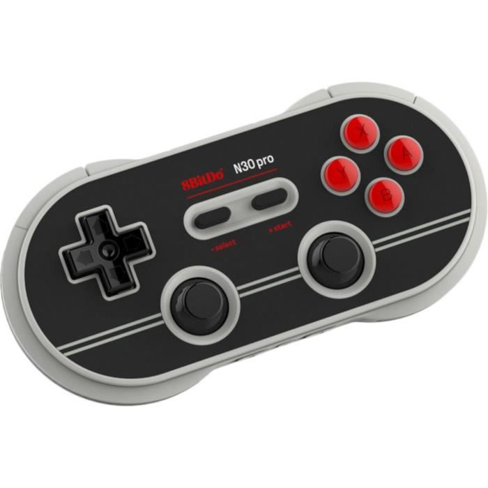 Manette Gamepad bluetooth gris/noir 8Bitdo N30 Pro2 pour Switch
