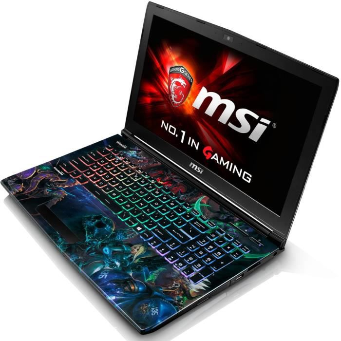 msi pc portable gamer ge62 6qd 452fr heroes edition 15. Black Bedroom Furniture Sets. Home Design Ideas