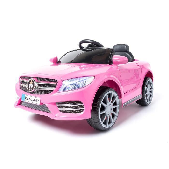 SL Roaster 12v voiture électrique enfants avec télécommande Rose - Voiture électrique pour enfant avec batterie 12v et télécommande
