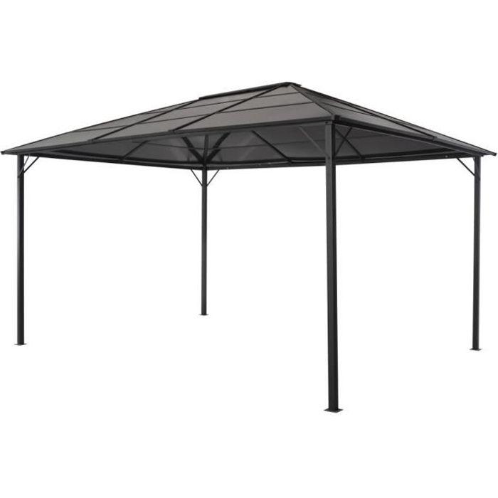FAN Tonnelle avec toit Aluminium 4x3x2,6 m Noir☺☻1