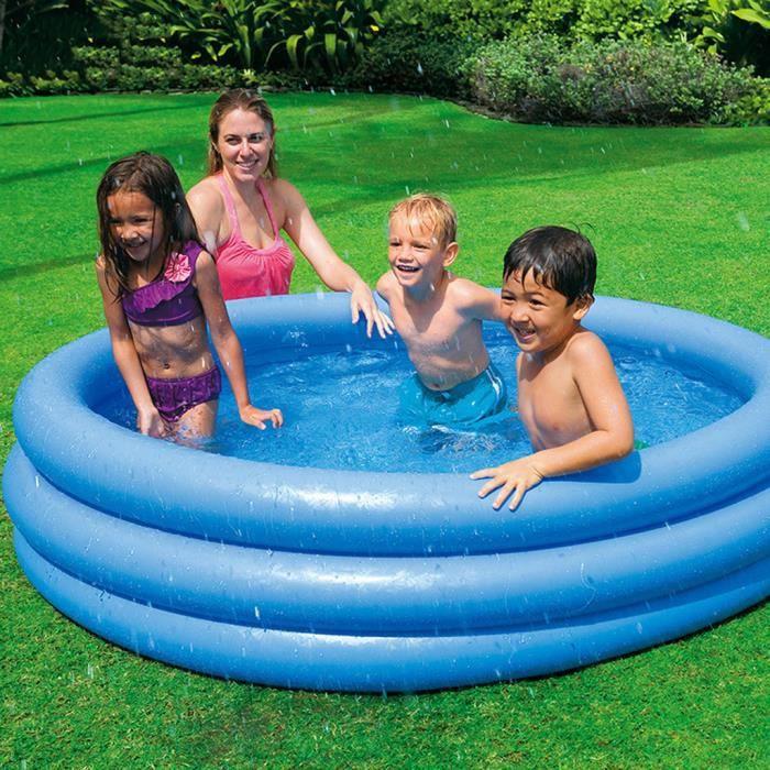 Articles de natation Piscine gonflable pour enfants en plein air d'été de jardin de piscine de famille LGZ200504114_vir