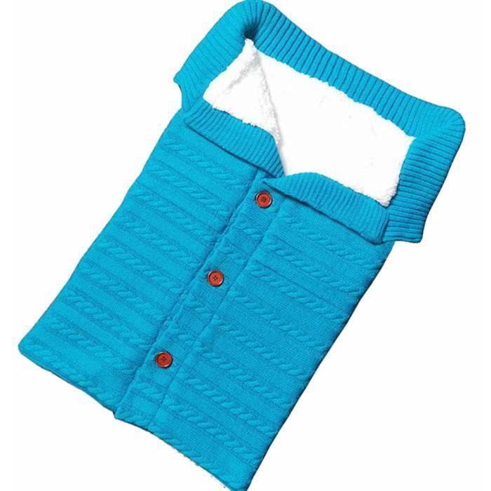 Soins bébéNouveau-né bébé couverture tricot crochet hiver chaud swaddle wrap sac de couchage YKK90730322BU_YOU