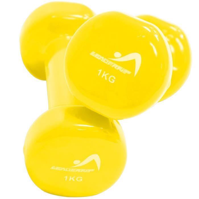 Haltères Leader Fit 1kg - jaune - TU