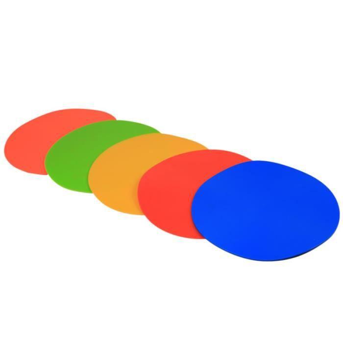 6 pièces marqueurs d'entraînement de Football coloré réutilisable durable marqueur de MEDECINE BALL - BALLON DE MUSCULATION