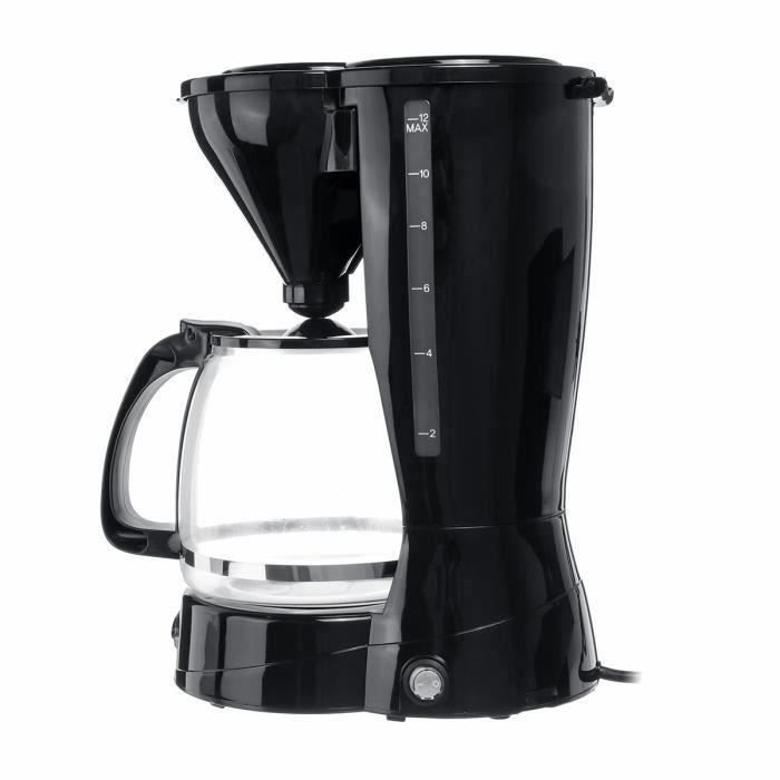 Machine à Café Cafetière - 12 tasses - 1500ml - 800W Gr45904
