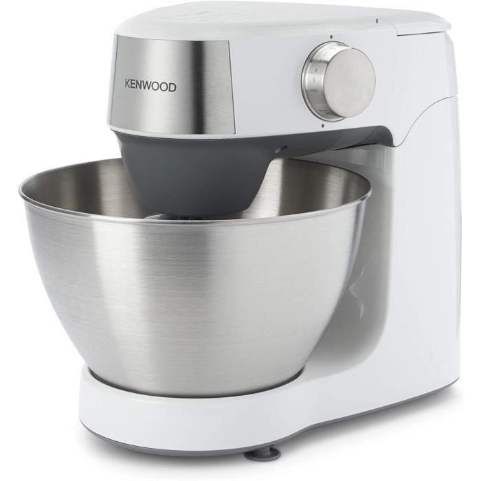 Kenwood Prospero+ KHC29.HOWH Robot de cuisine 4,3 L Bol en acier inoxydable 1000 W avec set de 3 pièces, hachoir, mélangeur acryliqu