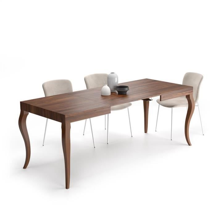 Mobili Fiver, Table Extensible Classico, Noyer, Mélaminé, Made in Italy