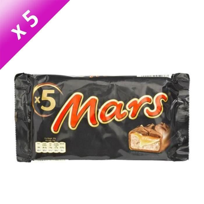 [LOT DE 5] MARS WRIGLEY CONFECTIONERY FRANCE Barres chocolatées Legend fourrées de confiserie et caramel - 5x45 g