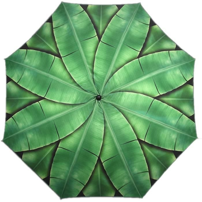 Esschert Design parasol Feuilles 184 x 226 cm polyester vert