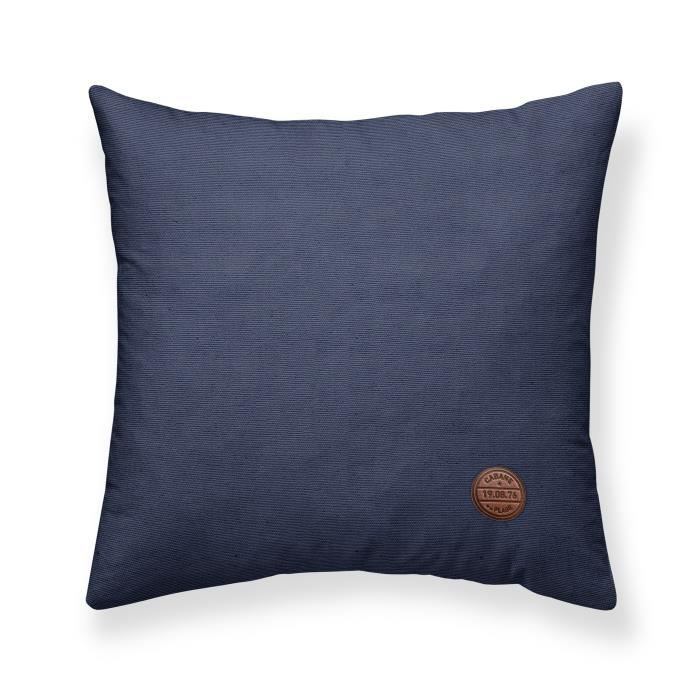 TODAY Coussin Chambray déhoussable Cabane de Plage - 40x40 cm - Bleu atlantic