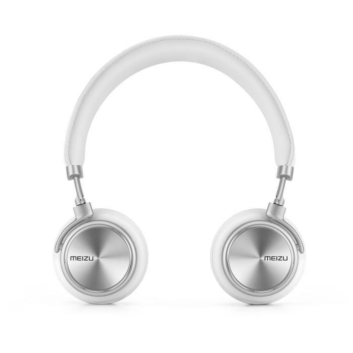 MEIZU Casque filaire Audio HD50 - Blanc - 103 dB - Câble 1,2 m - Rotation multi-angles
