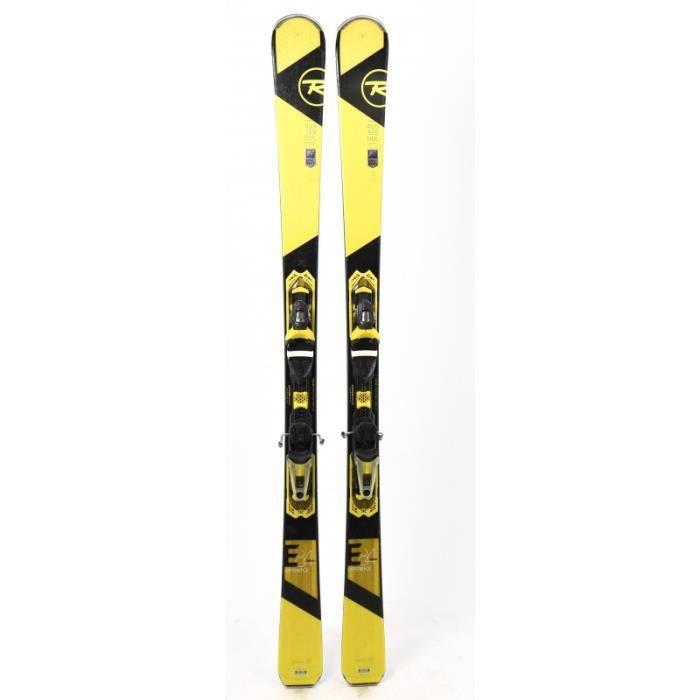 Ski occasion Rossignol Experience 84 Carbon jaune + fixations
