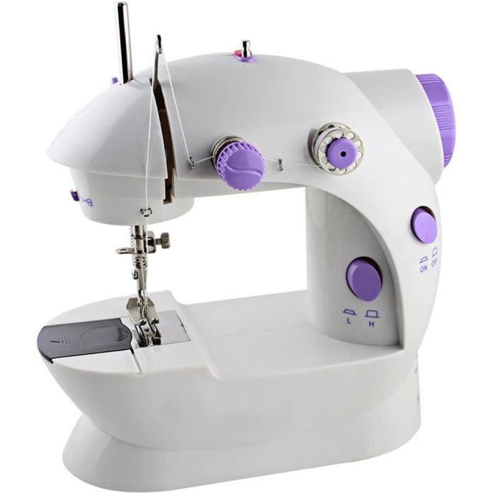 Mini machine à coudre portative, avec 2 vitesses, double fil, double vitesse avec la lumière et le coupeur