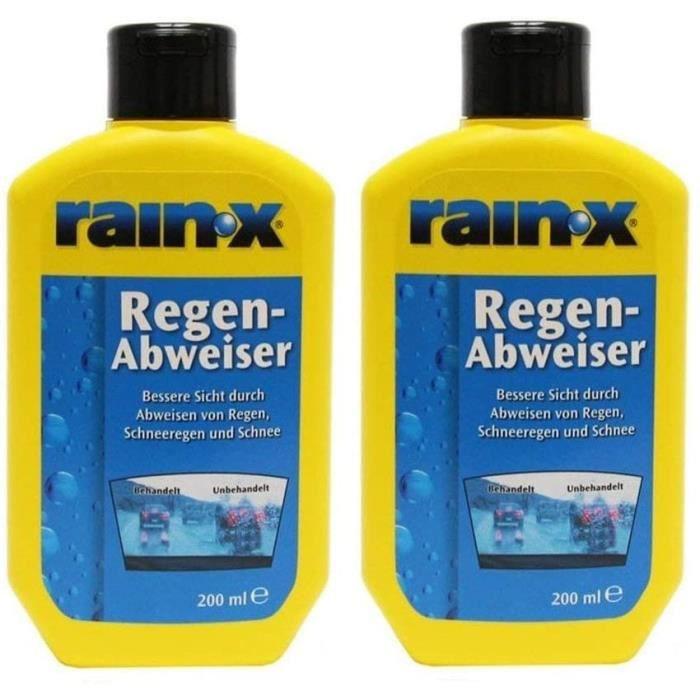 2x Rain X Pare-Pluie 200ml Voiture Nettoyeur de Disque Nettoyant de Vitres Essuie-Glace