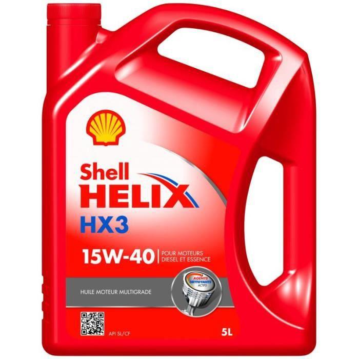 Shell Helix HX3 15W40 5L Huile Moteur Essence et Diesel