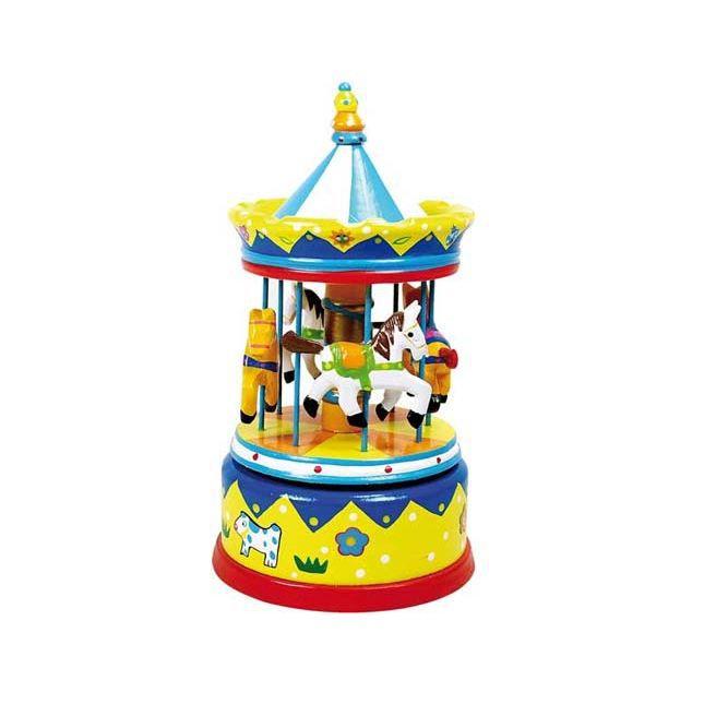 Boîte à musique Carrousel jaune