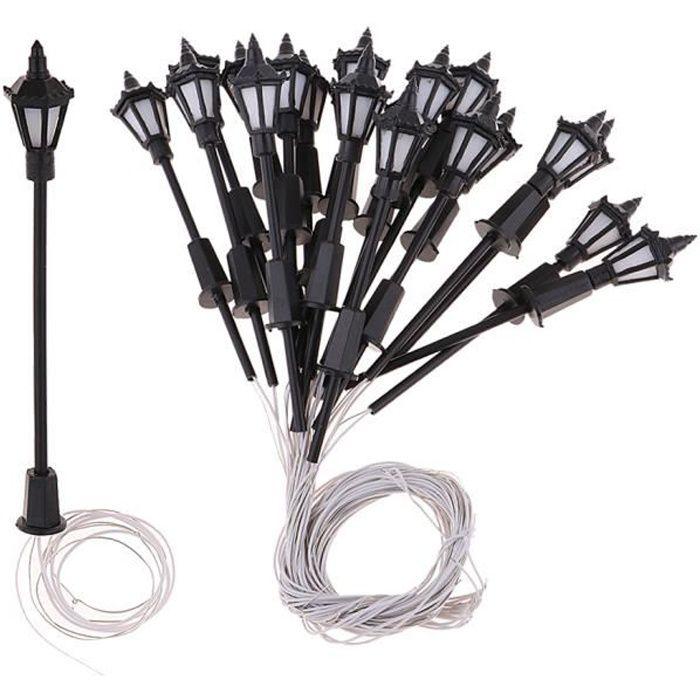 VEHICULE A CONSTRUIRE - ENGIN TERRESTRE A CONSTRUIRE 20 pièces lampadaires miniatures à l'échelle 1: 100 HO prerryia