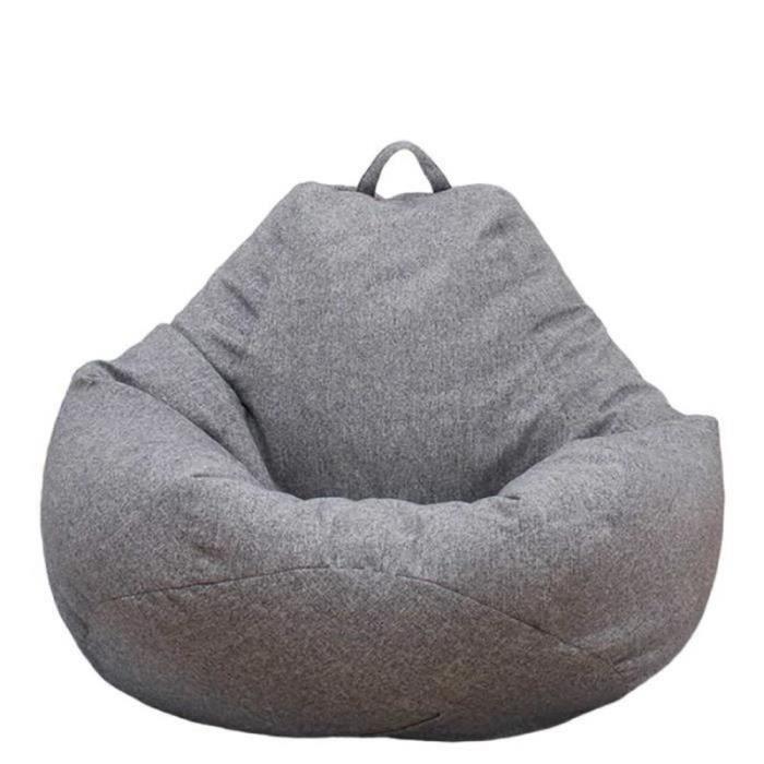 QL29646-[N'inclut pas le canapé] Pouf Gonflable intérieur Housse de Chaise Longue Paresseux pour Adultes et Enfants GrisM:80*90cm