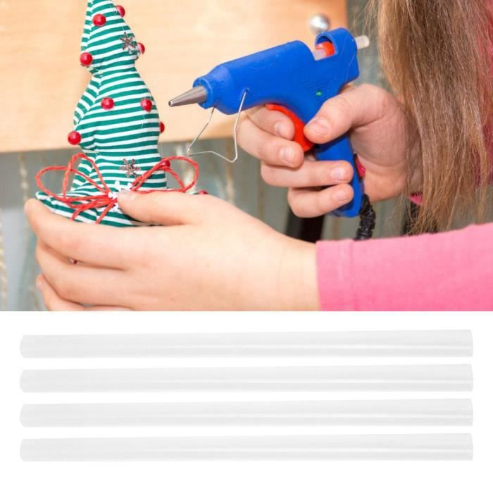 10pcs Bâtonnets de Colle Chaud Recharge Viscosité Forte pr Pistolet à Colle