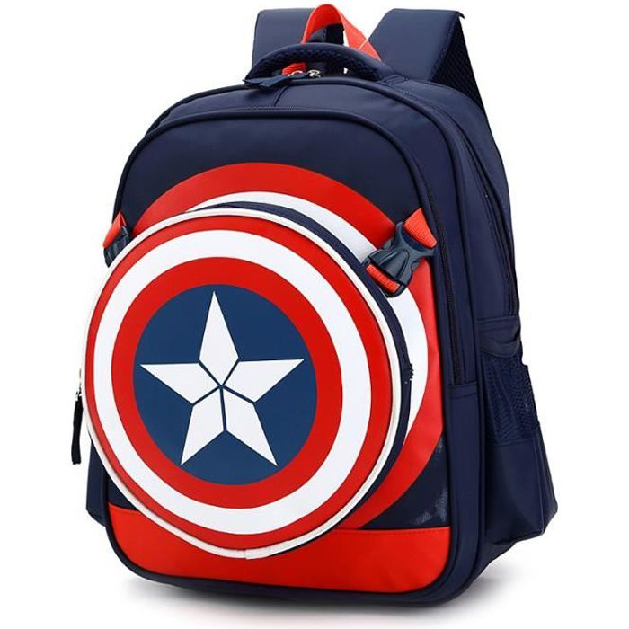 gar ons captain america cartable enfants sac dos achat vente cartable 2009852542452. Black Bedroom Furniture Sets. Home Design Ideas