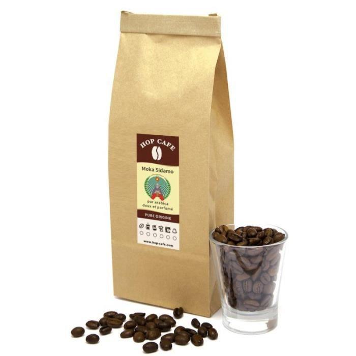 CAFÉ Café en grains – Éthiopie Moka Sidamo – 1kg