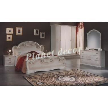 Chambre coucher model romina beige achat vente for Model chambre a coucher