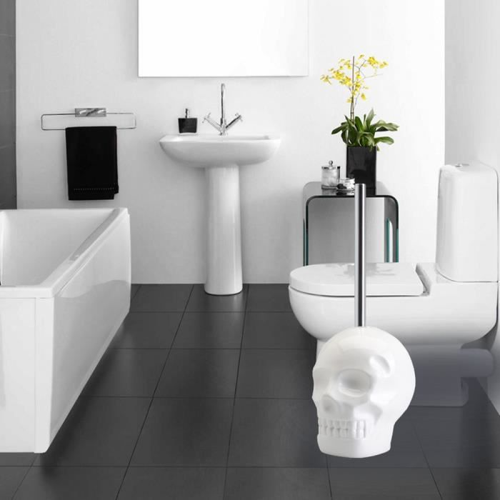 brosse wc skull brosse toilettes originale et d corative cadeau d co maison et salle de. Black Bedroom Furniture Sets. Home Design Ideas