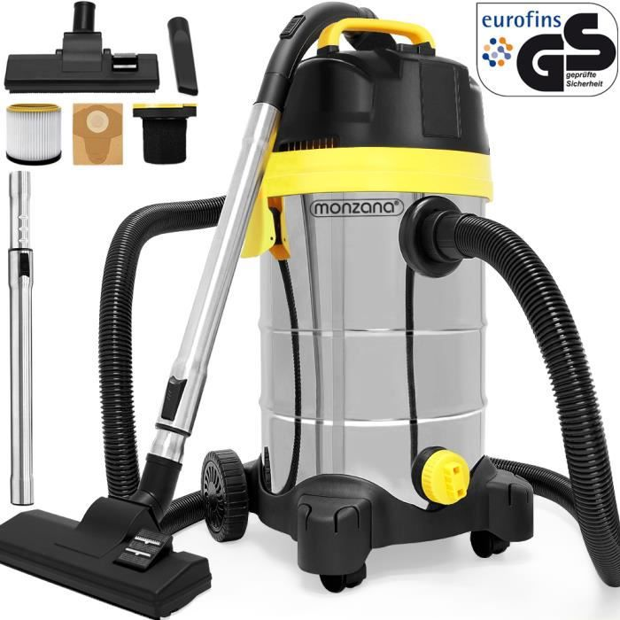 aspirateur eau poussi re 1400 w 30 litres achat vente aspirateur industriel cdiscount. Black Bedroom Furniture Sets. Home Design Ideas